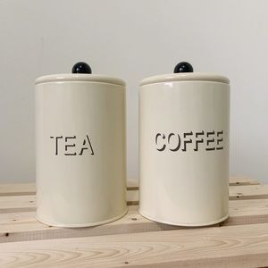 Vintage Metal Coffee and Tea Canisters
